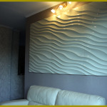 Рельефные куруглые панели волны