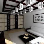 Подвесной потолок (гипсокартон+деревянные балки)