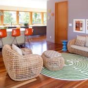 Плетенная мебель в интерьере