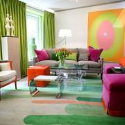 Грамотное сочетание цвета мебели и стен