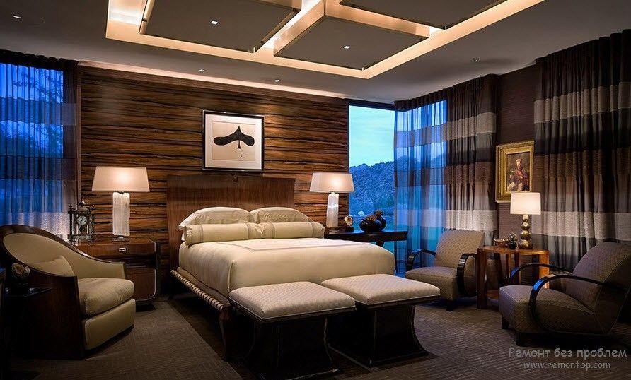Модульный потолок в спальне