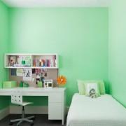 Комната мятного цвета