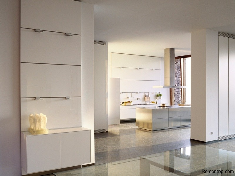 Кухня в светлых оттенках минимализм