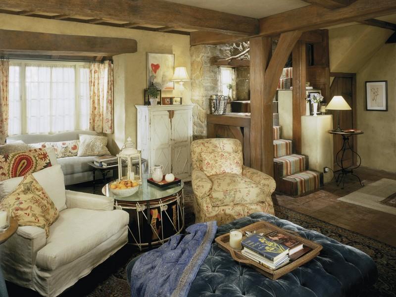Как обустроить гостиную в стиле Кантри