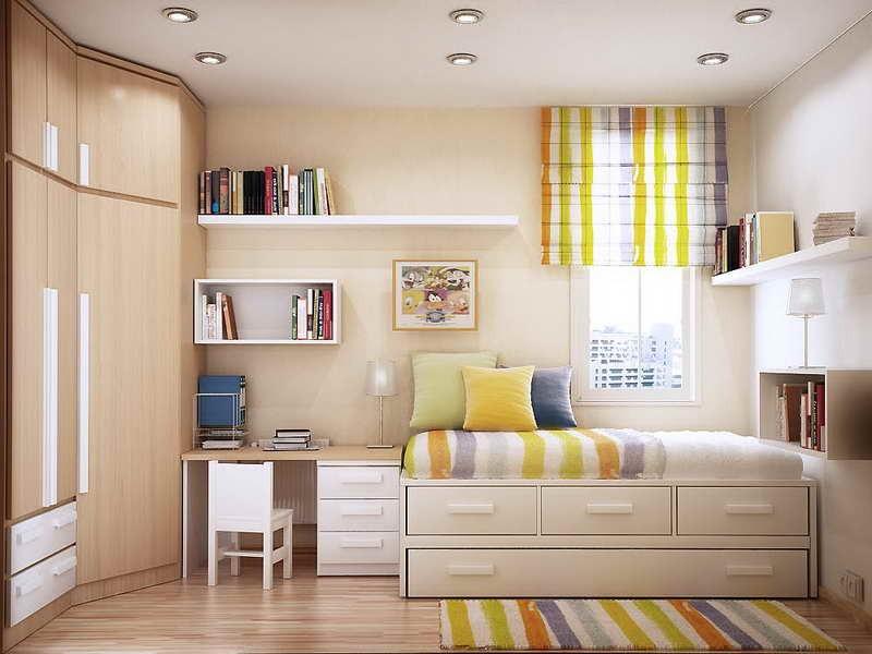 Маленькая комната для подростка мальчика