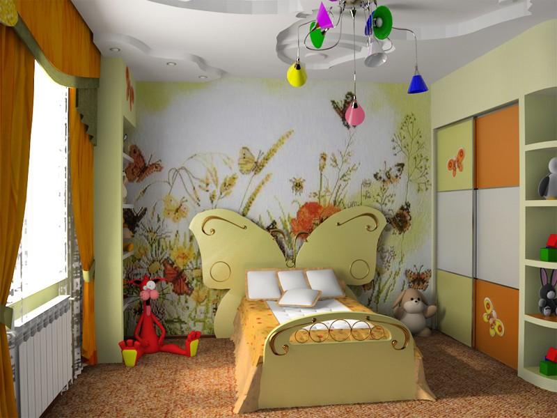 Примеры детских комнат для девочек фото