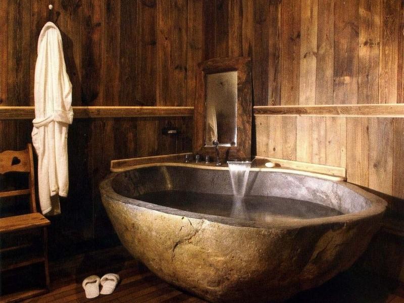 Ванная в стиле кантри фото