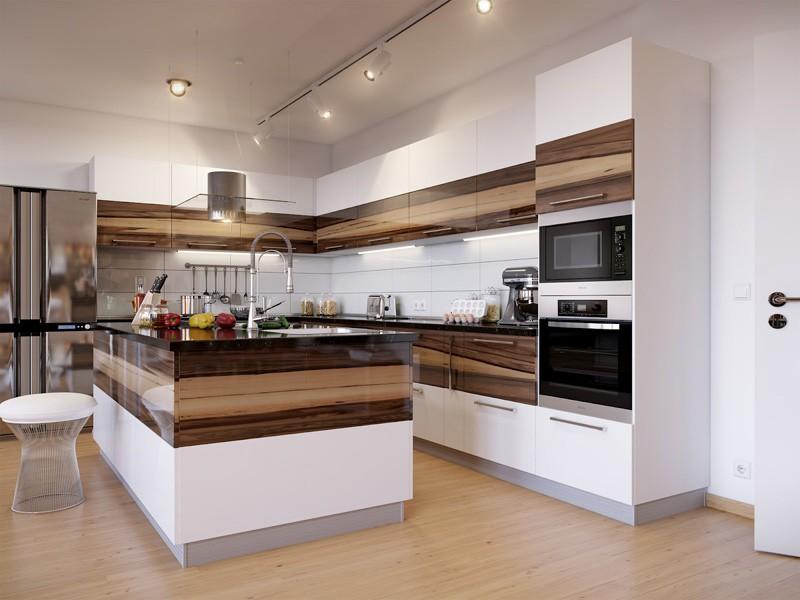 Кухня хай тек фото