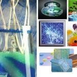 Изделия из стеклянной крошки