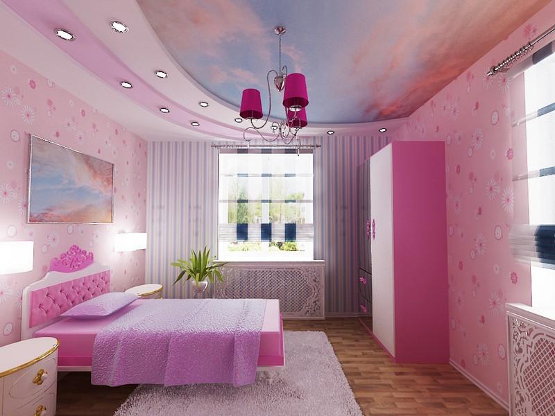 Проекты детских комнат для девочек фото