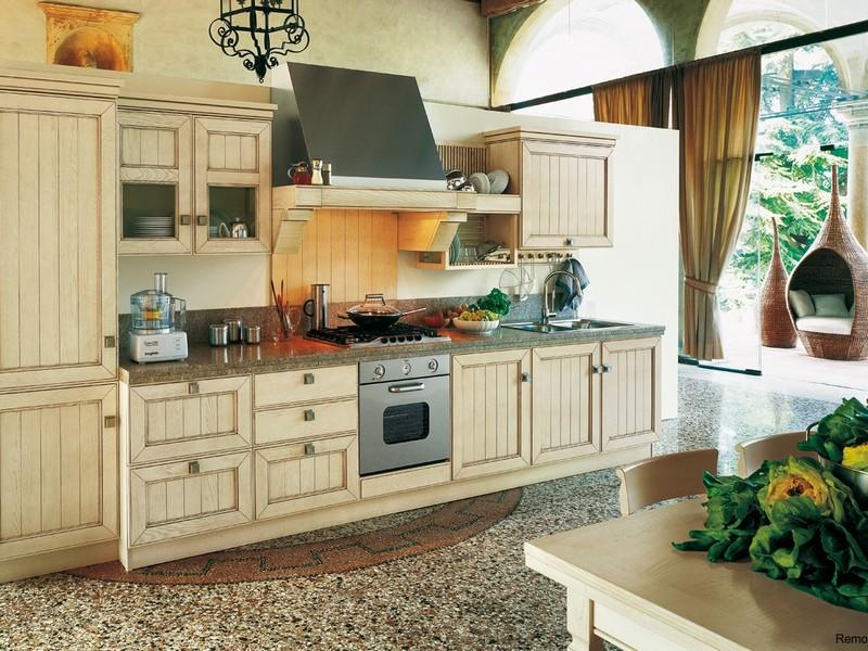Меблировка кухни под стиль Кантри