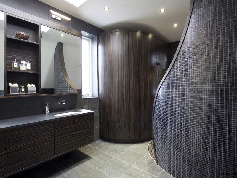 Интерьере ванной комнаты в стиле минимализм фото