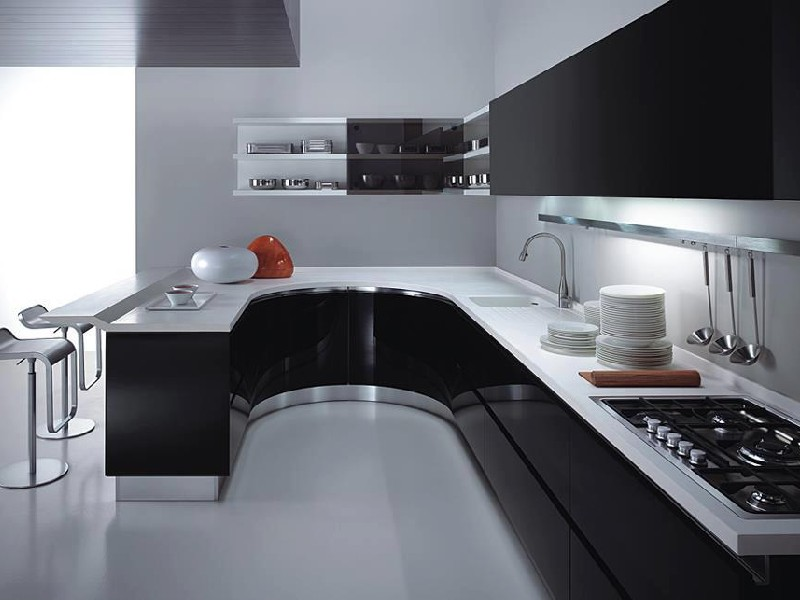 Дизайн кухни модерн фото