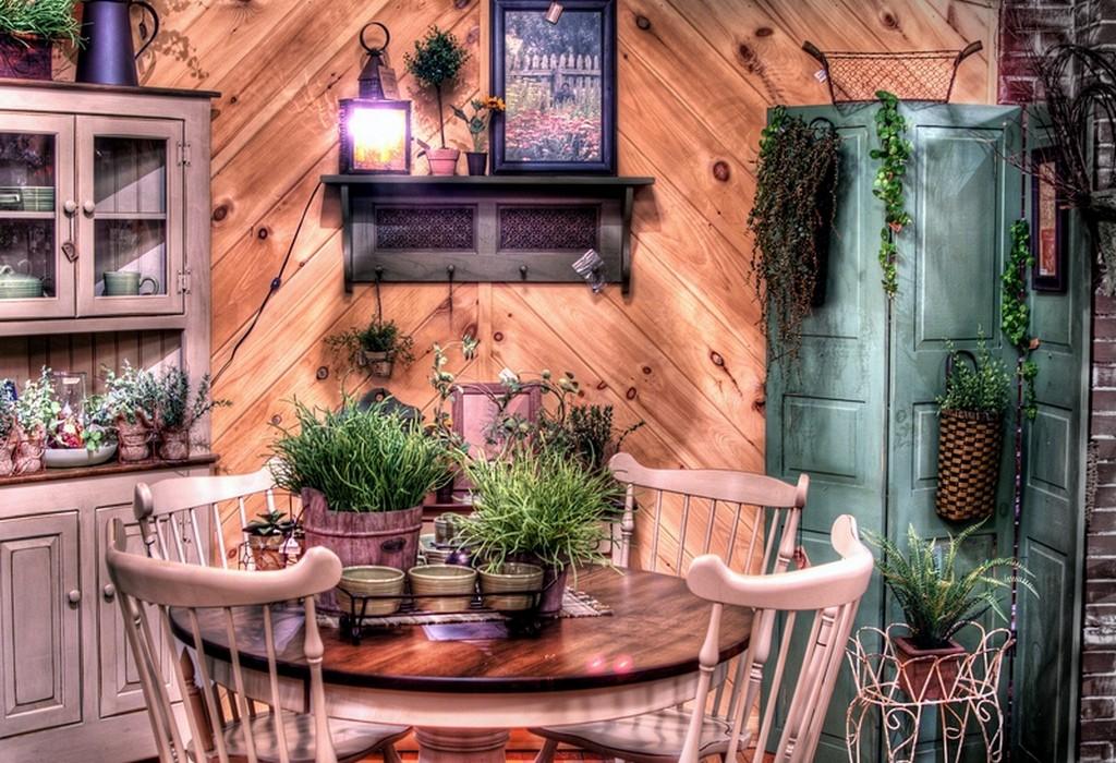 Интерьер в деревенском стиле фото своими руками