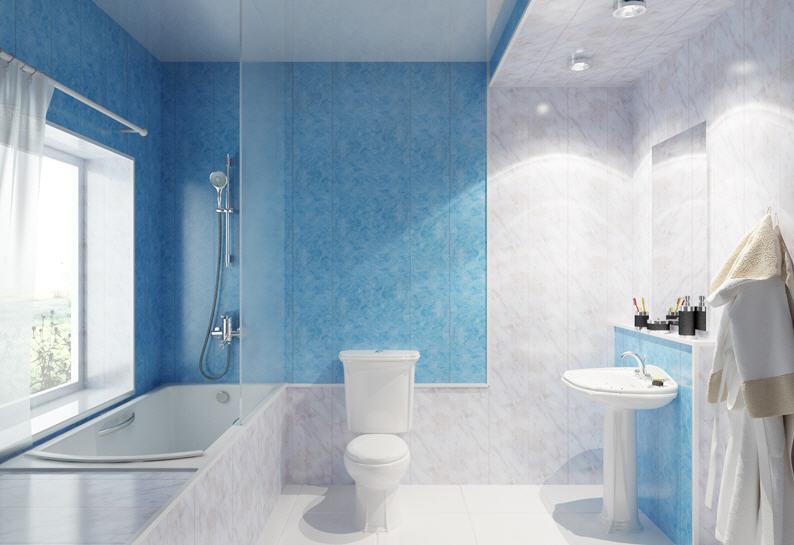 Дизайн ванной комнаты в пластике
