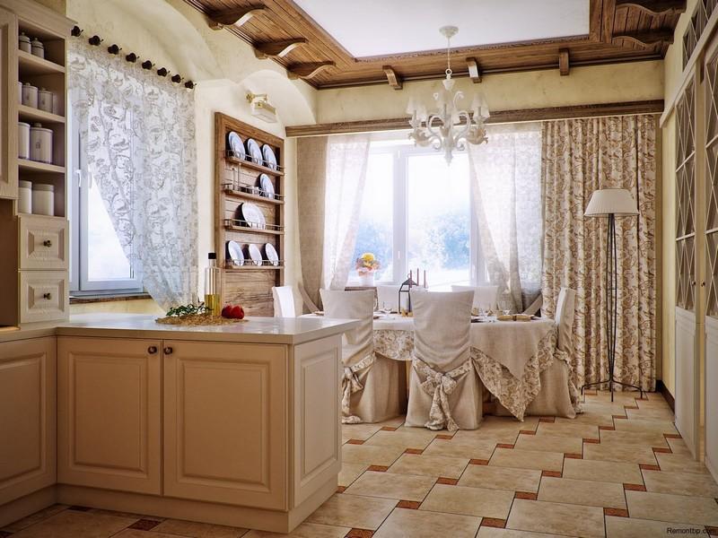 Кухня/Столовая стиль Кантри