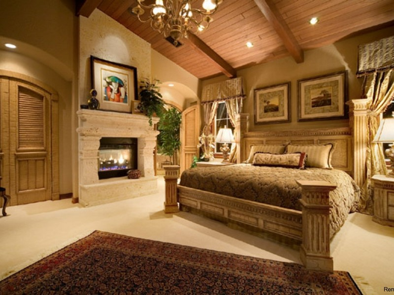 Кантри стиль спальня интерьер