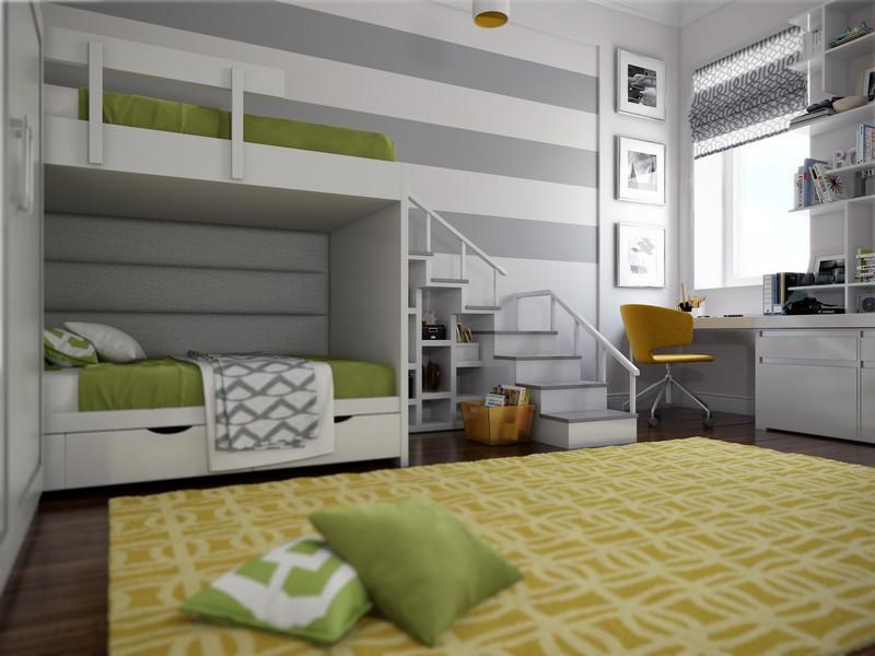 Зеленый цвет в детской комнате