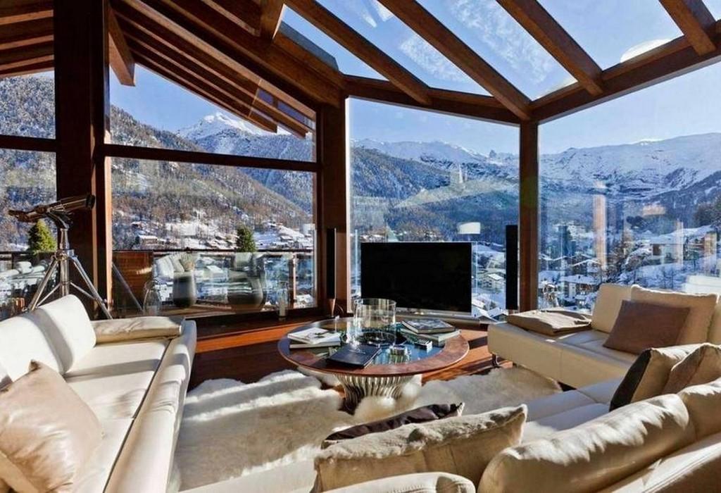Дизайн дома в стиле альпийское Кантри