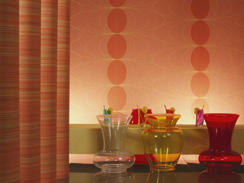 Текстильні шпалери в інтер'єрі фото