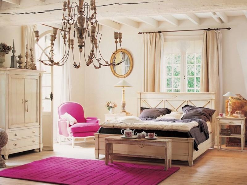 Кантри стиль спальня дизайн