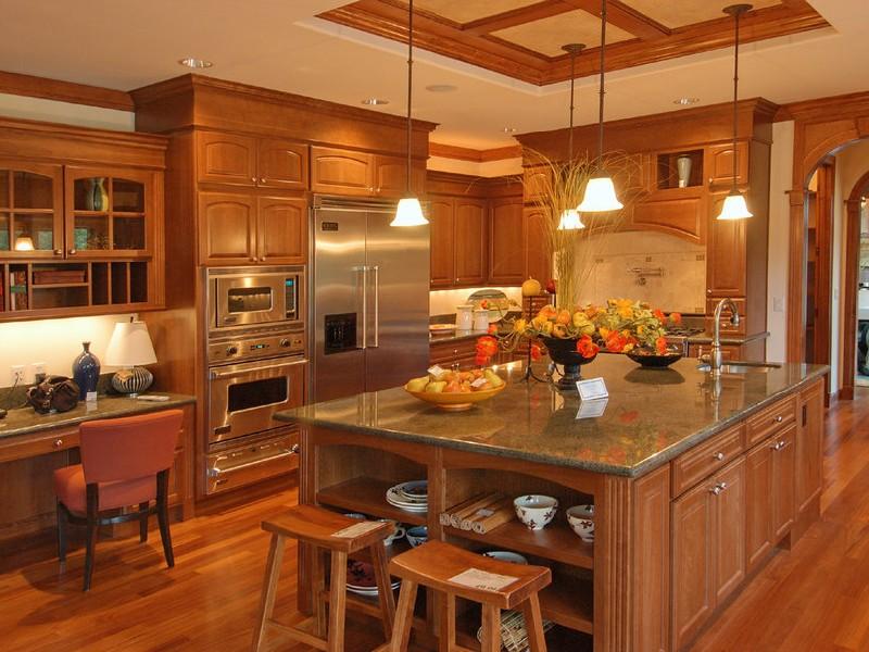 Деревянная кухня стиль кантри
