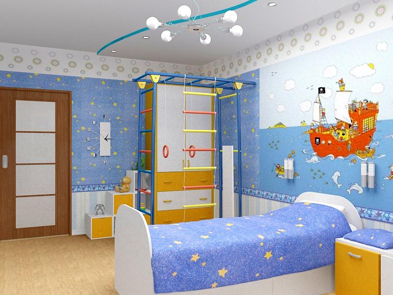 Цвет детской комнаты для мальчика