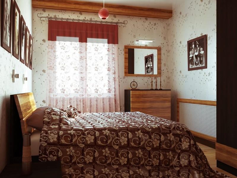 Кантри стиль спальня оформление