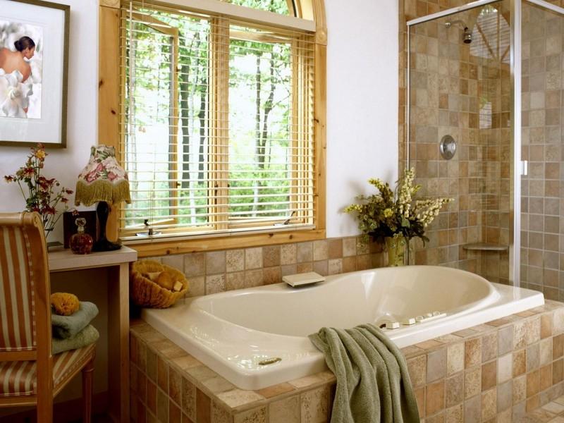 Ванная комната кантри