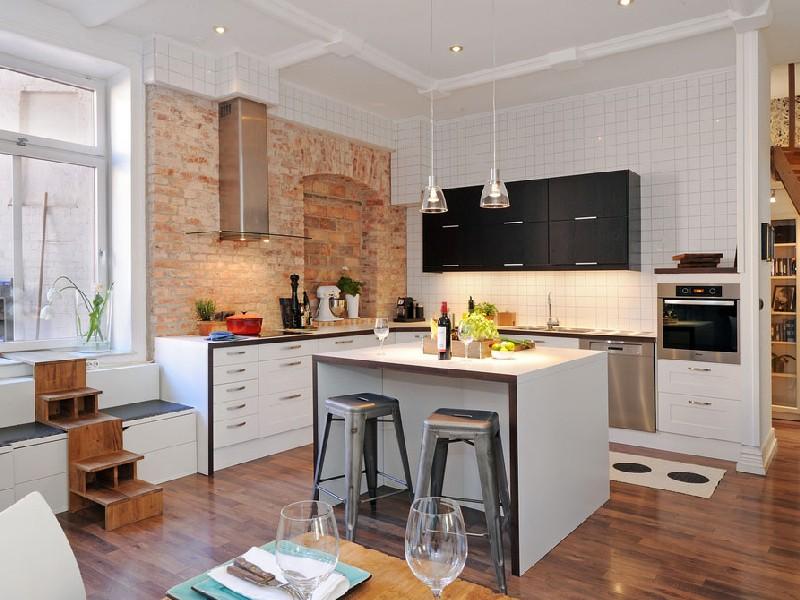 Кухня студия фото