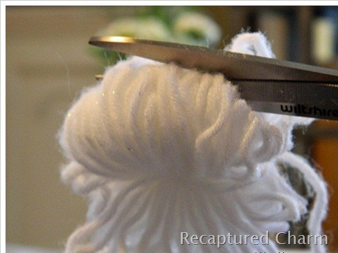 Шарики из ткани режем ткань