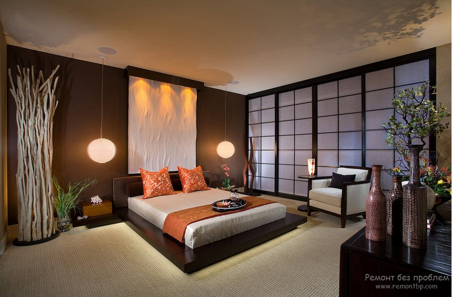 Комната в дизайнах Японии