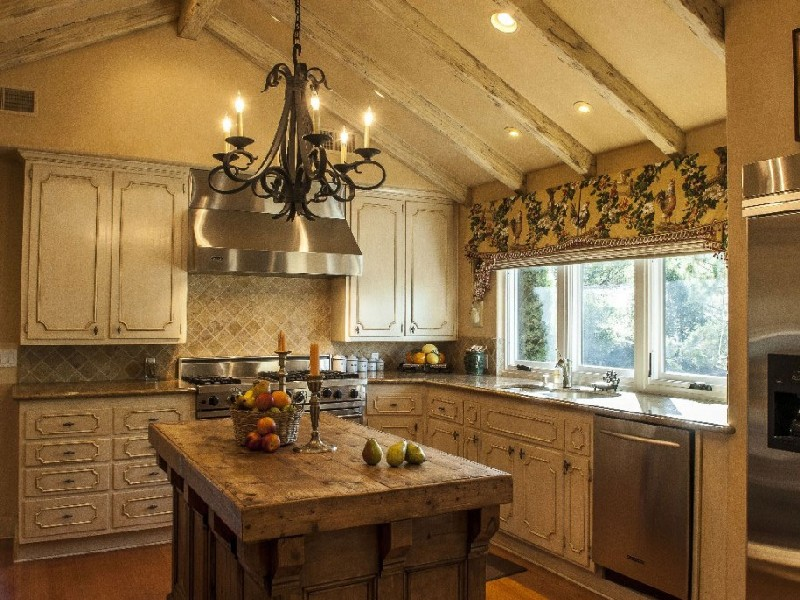 Мебель кантри для кухни фото