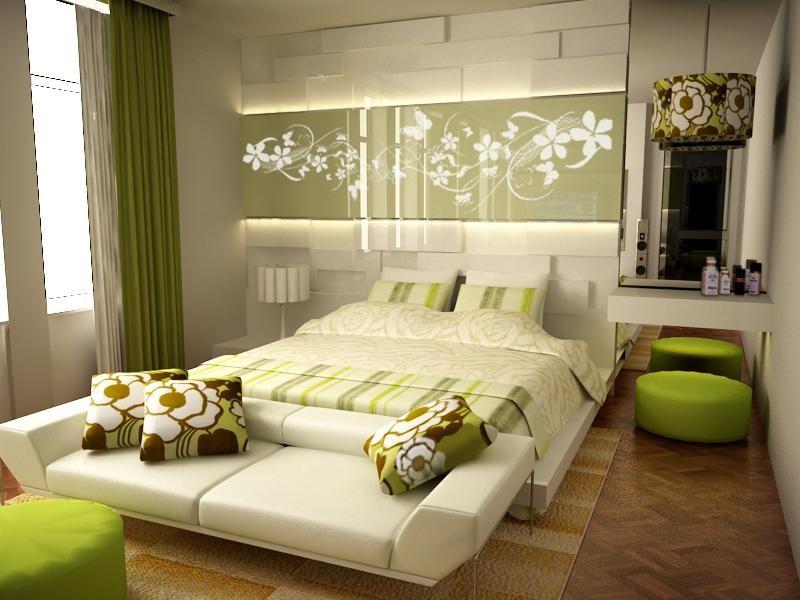 Зеленая спальня