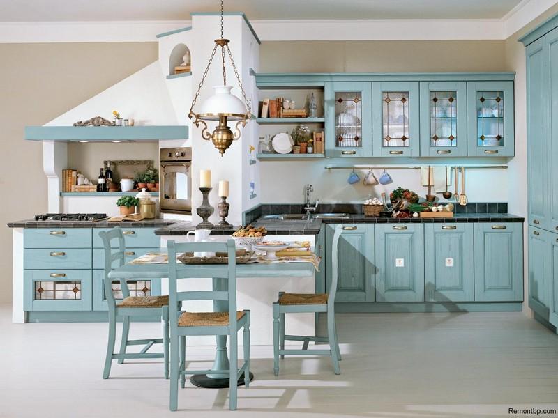 Меблировка кухни кантри мебель