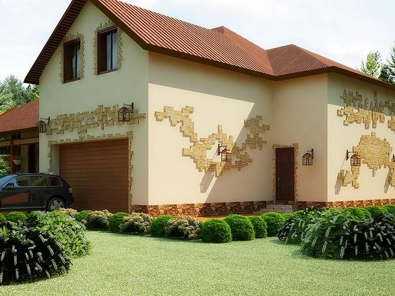 Двухэтажный дом в стиле Кантри