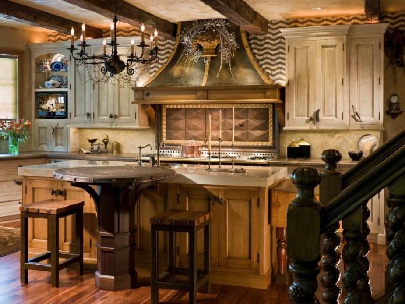 Стиль кантри на кухне