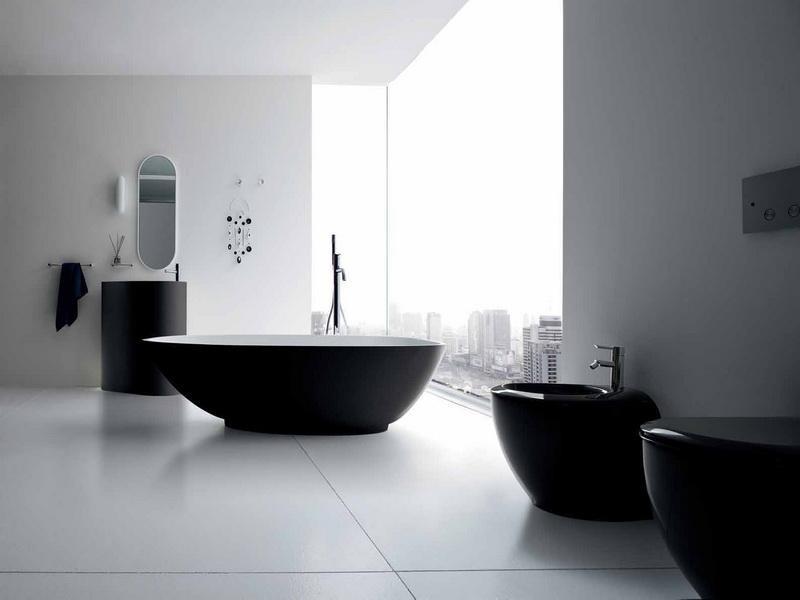 Стиль минимализм в ванной фото