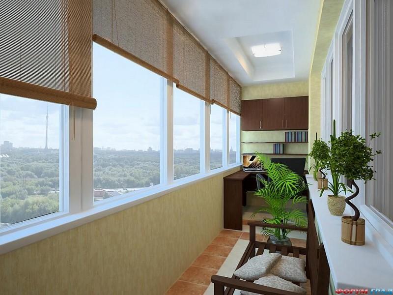 Балкон рабочий кабинет