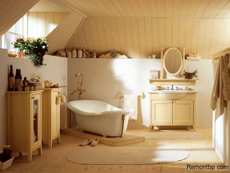Ванная Кантри стиль фото и примеры