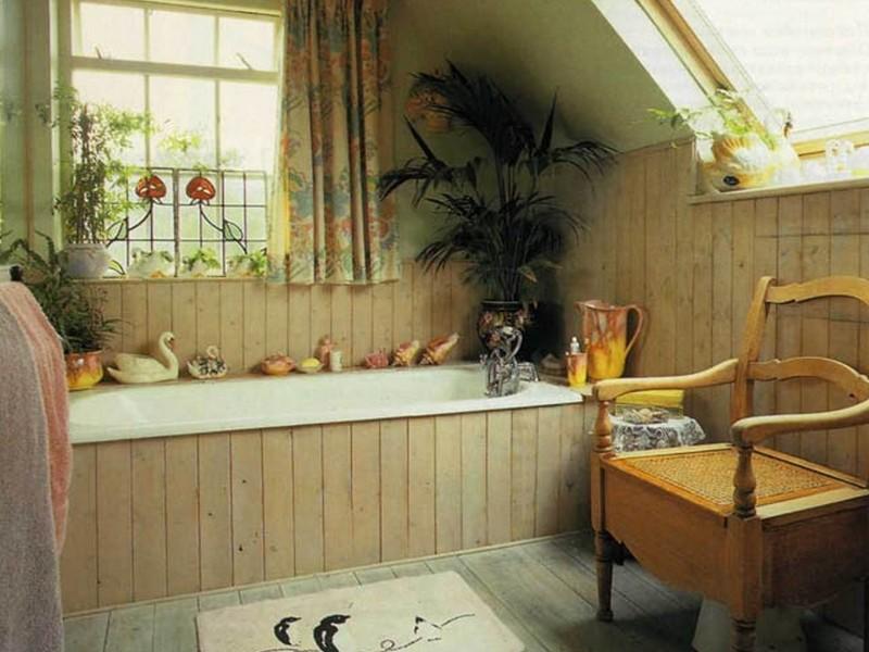 Ванная Кантри стиль фото и описание