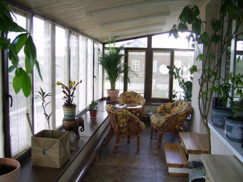 Балкон зимний сад