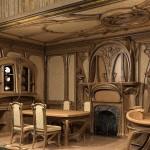 Деревянная мебель стиль модерн