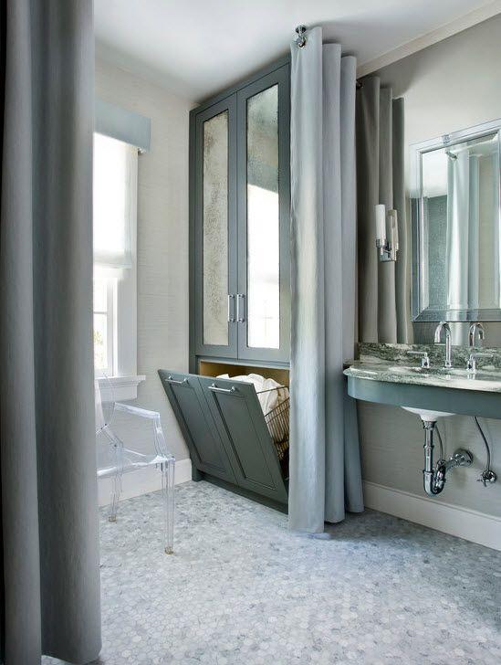 Мебель для маленькой ванной фото