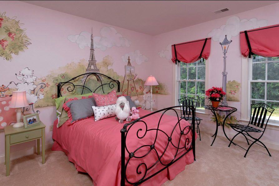 Красный цвет в интерьере комнаты для подростка