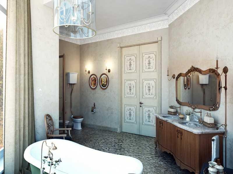 Фото ванной комнаты в стиле винтаж