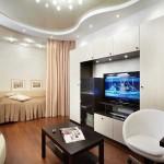 Примеры зонирования комнаты для гостей