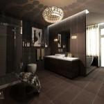 Красивая ванная Арт-Деко интерьер
