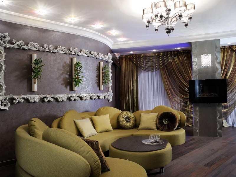 Дизайн интерьера гостиной арт-деко
