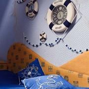 Спальная комната морской стиль